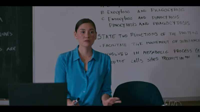 Ms Wilder (Vanessa Matsui) trying to teach her class
