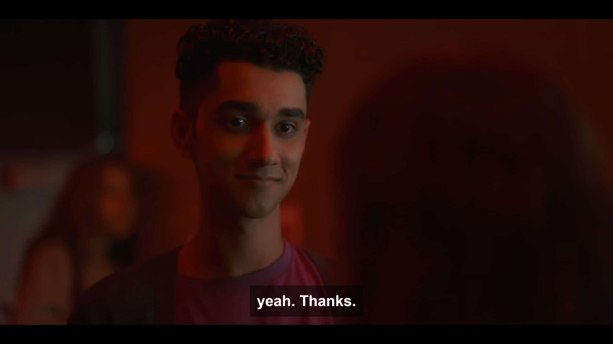 Omar (Zac Kara) being nice to Leila