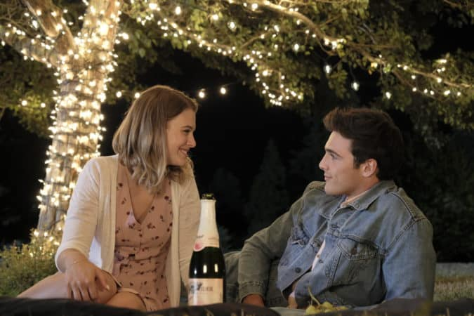 Sam (Tiera Skovbye) and Chris (Jacob Elordi) on their first date.