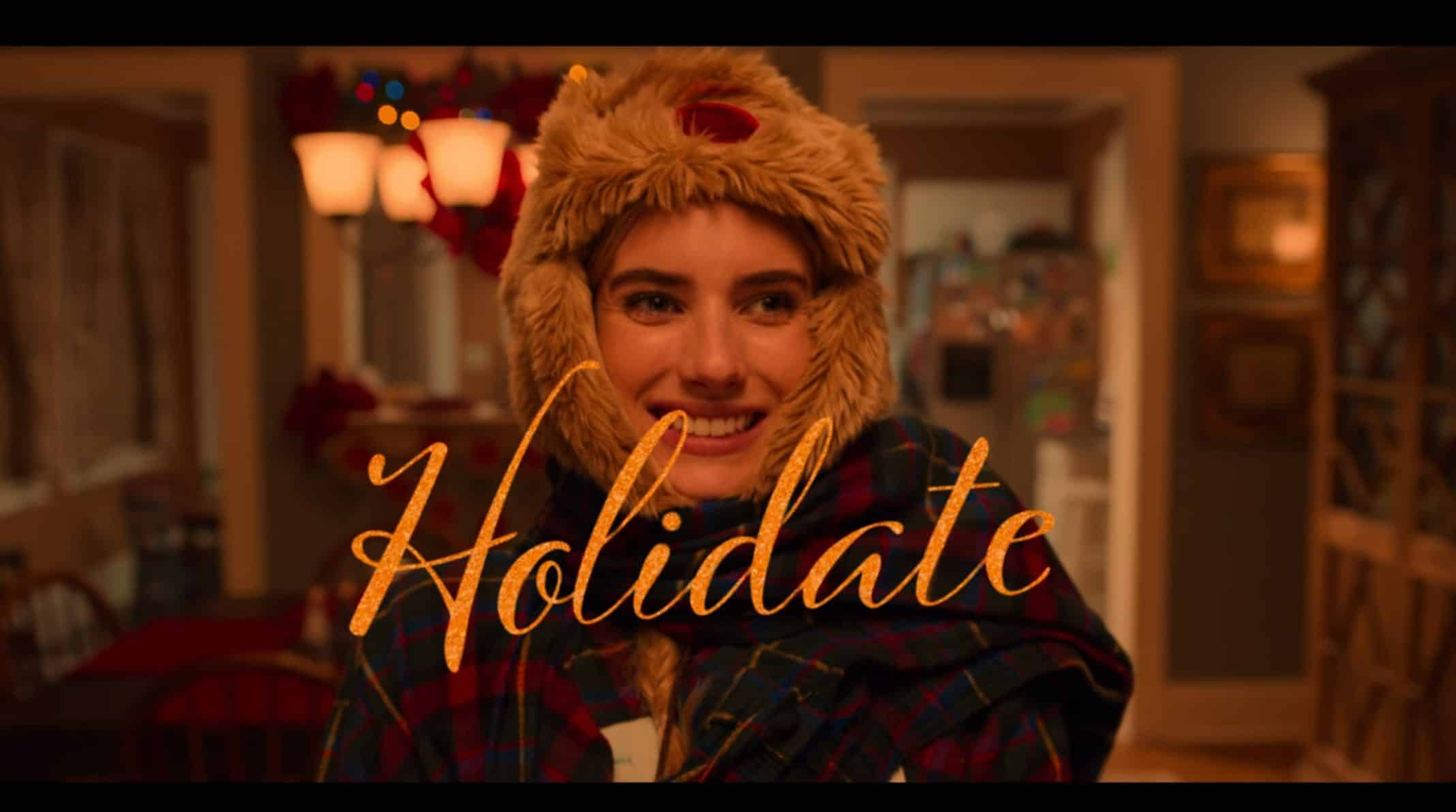 Title Card for Holidate (2020) featuring Emma Roberts