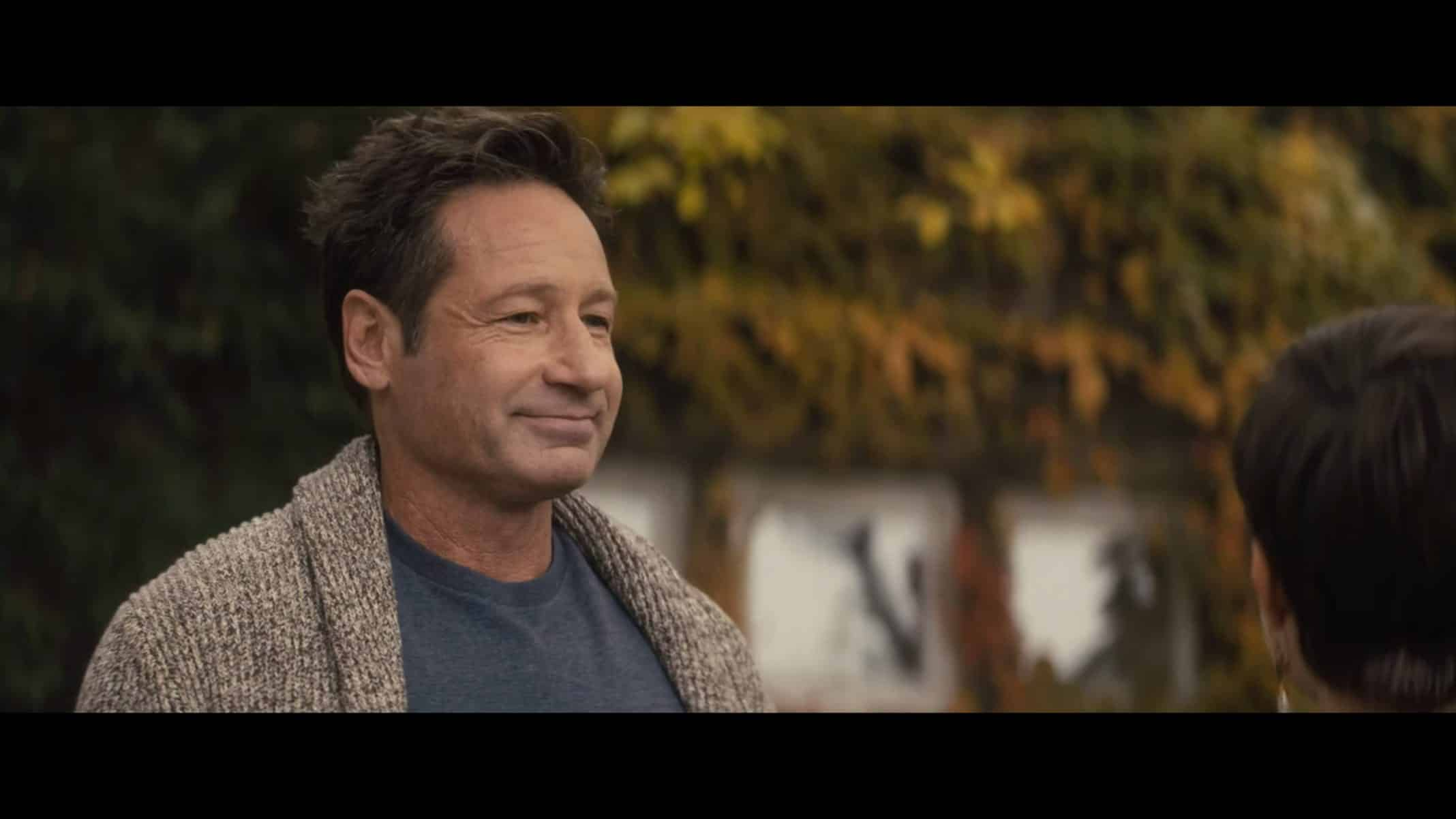 Adam (David Duchovny) as Lily moves into home
