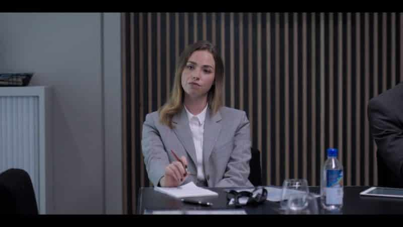 Daria (Freya Mavor) in a meeting