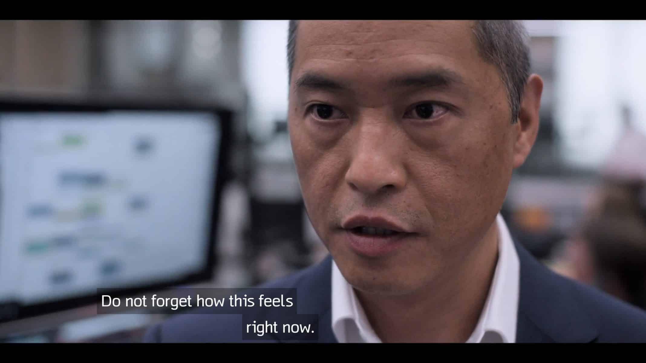 Eric (Ken Leung) giving Harper a pep talk