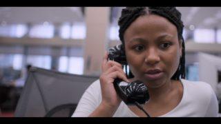 Harper (Myha'la Herrold) on the phone with Nicole
