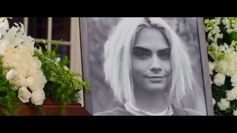 The picture used of Isabelle (Cara Delevingne) for her funeral