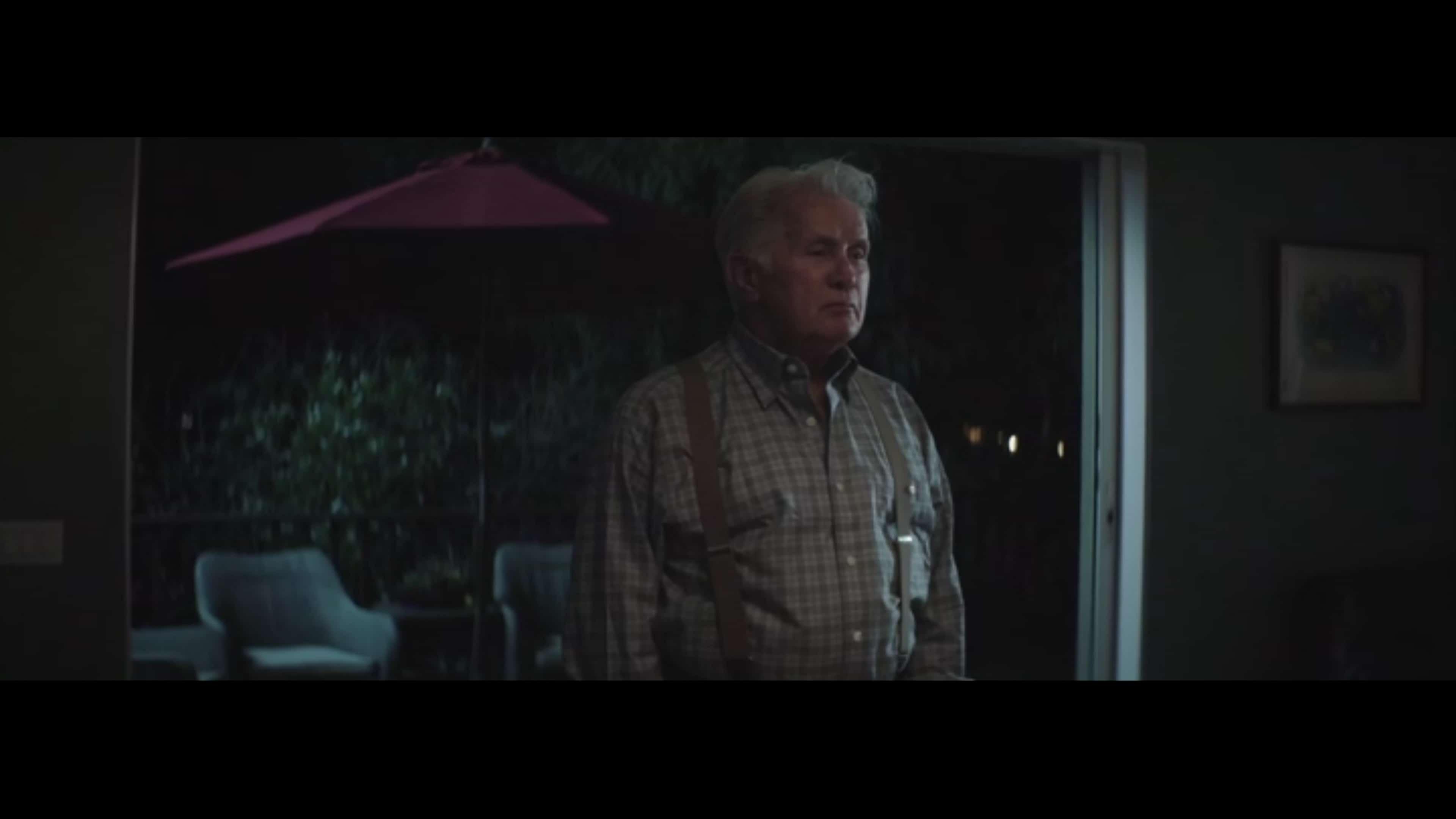 John (Martin Sheen) talking to Alicia