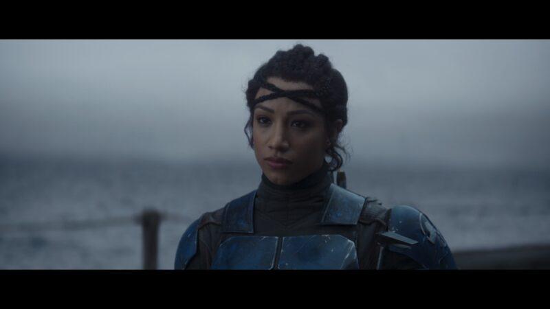 Koska Reeves (Mercedes 'Sasha Banks' Varnado) standing alongside her peers