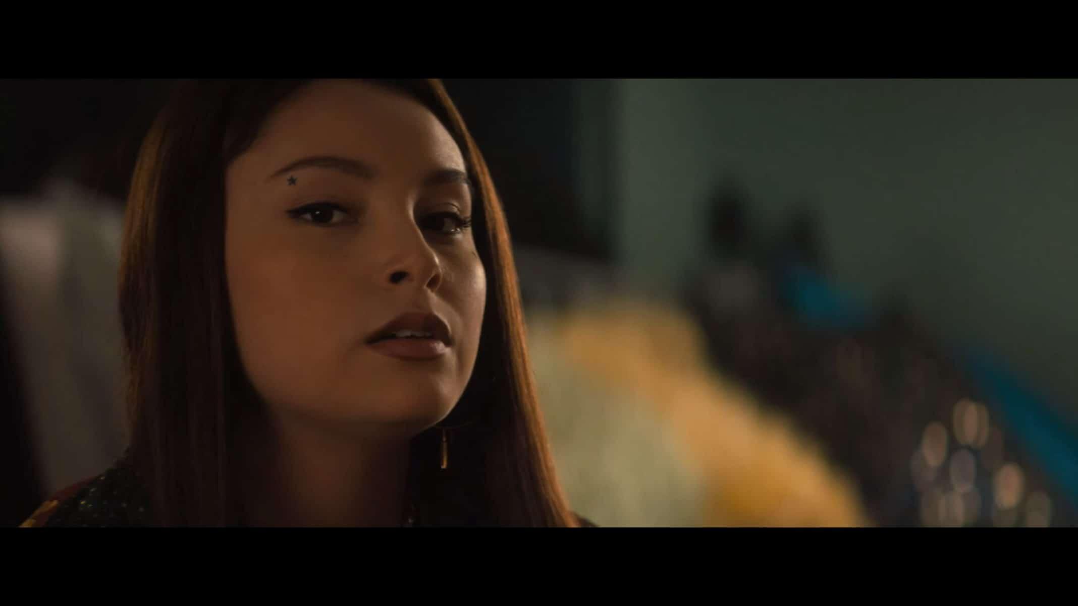 Lourdes (Zoey Luna) doing a spell