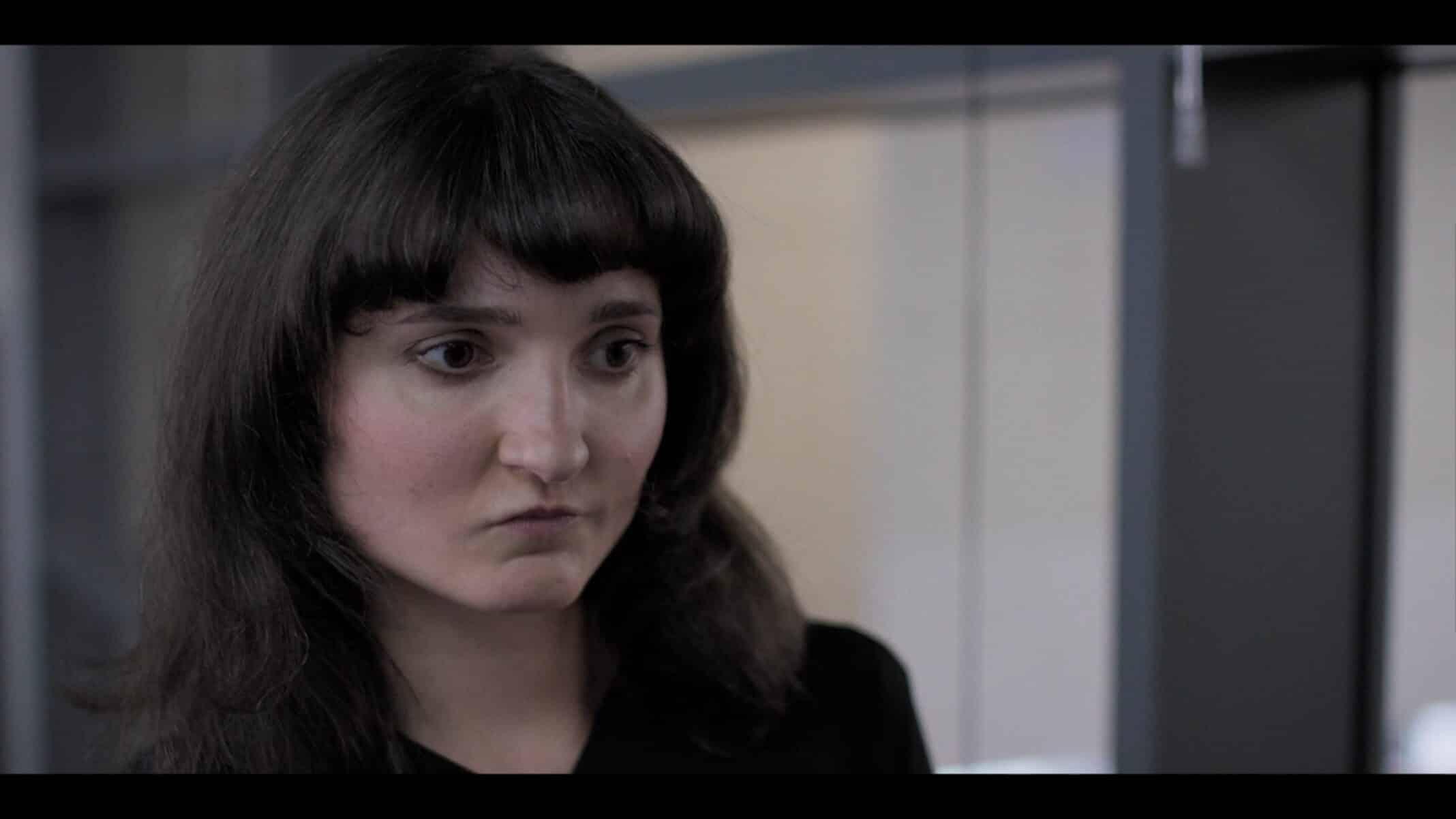 Lucinda (Ruby Bentall) evaluating herself.