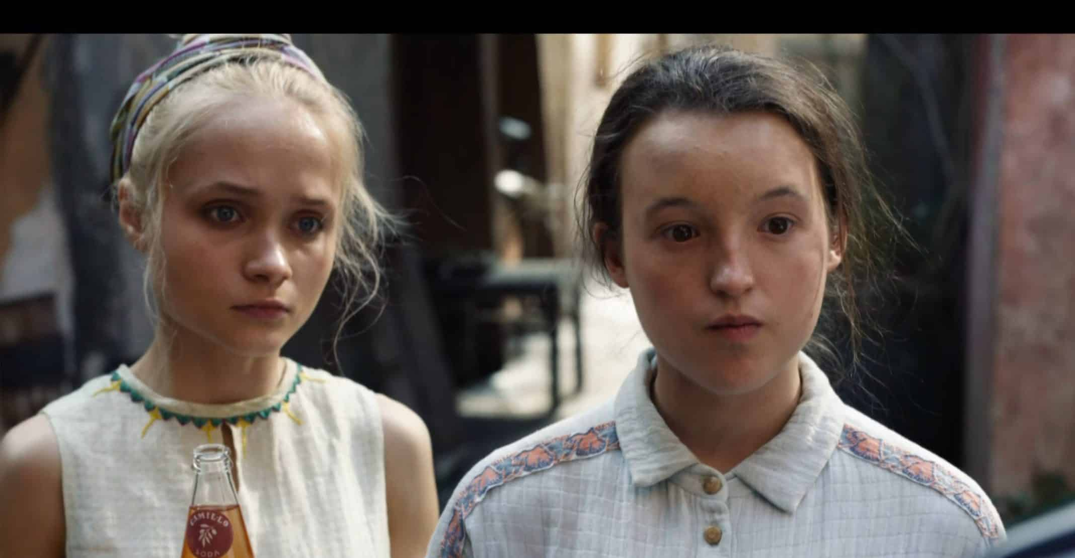 Paola (Ella Schrey-Yeats) and Angelica (Bella Ramsey) talking to Will and Lyra