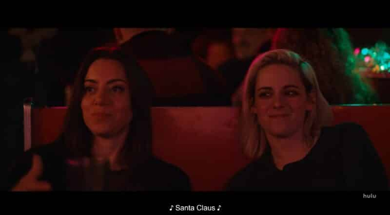 Riley (Aubrey Plaza) and Abby (Kristen Stewart) at a gay bar