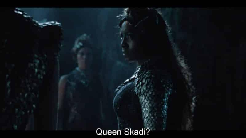 Ruta Skadi (Jade Anouka) confronting Seraphina