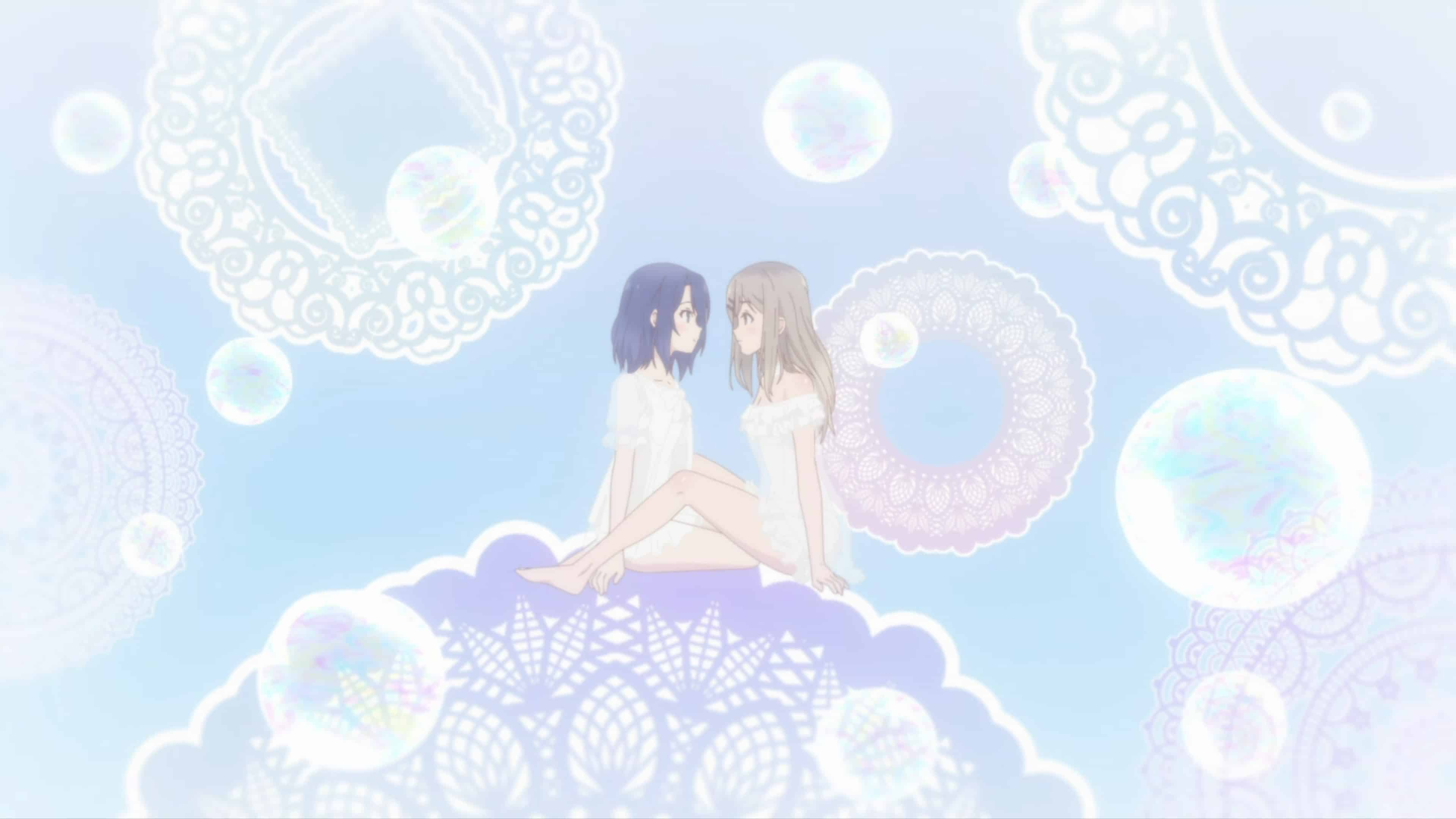 Adachi and Shimamura in a dream sequence