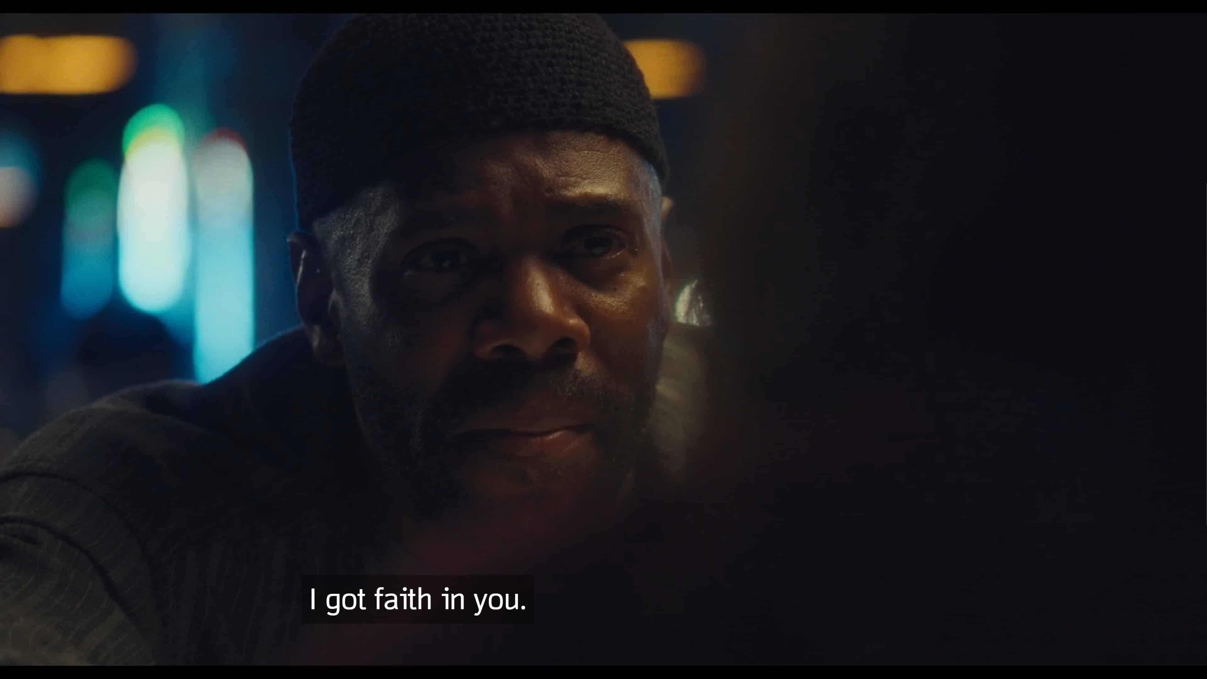 Ali saying he has faith in Rue