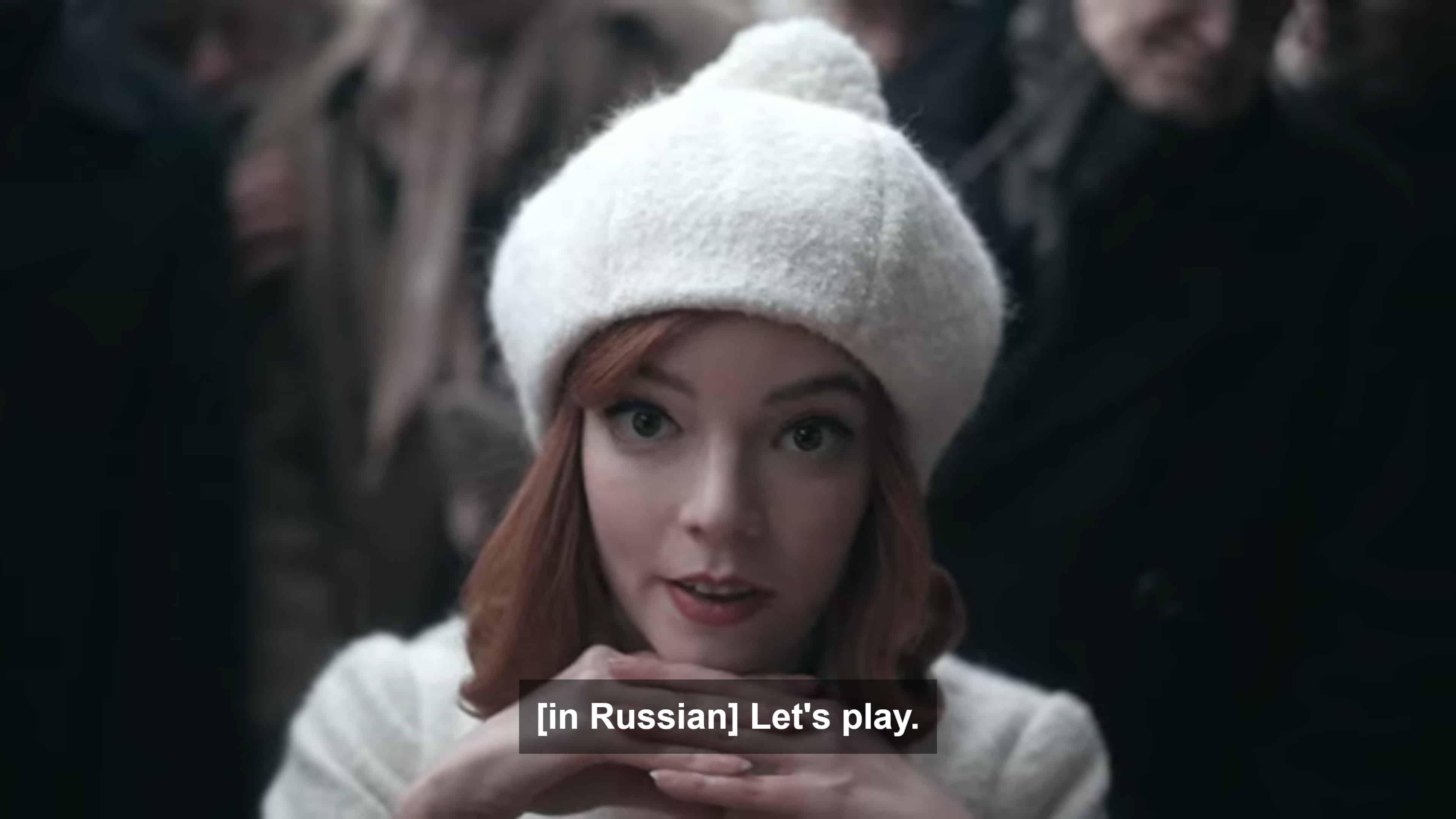 Beth, in Russian, saying