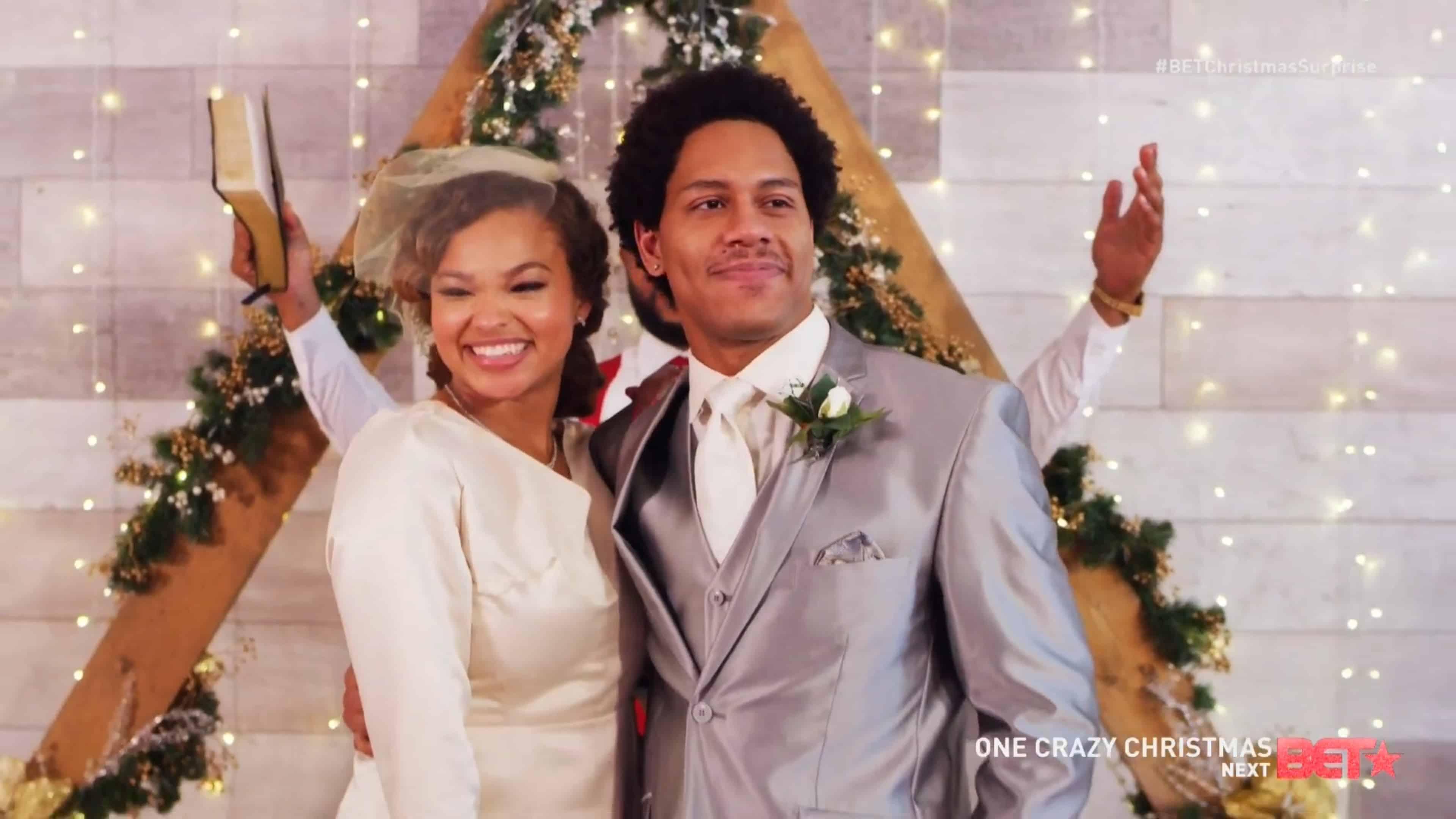 Brittney (Katelynn Bennett) and Amiri (Mustapha Slack) getting married