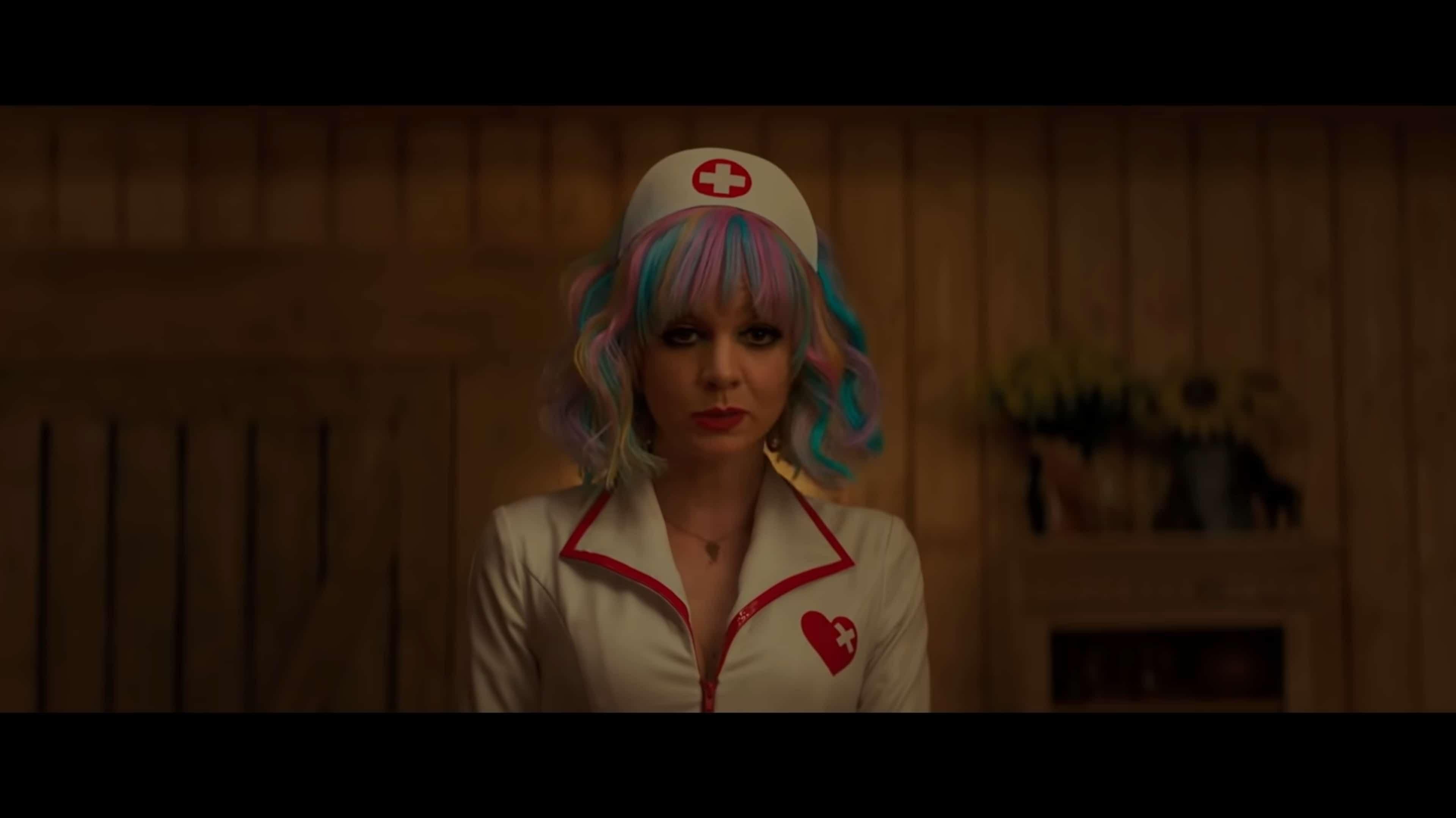 Cassandra (Carey Mulligan) about to torture Al