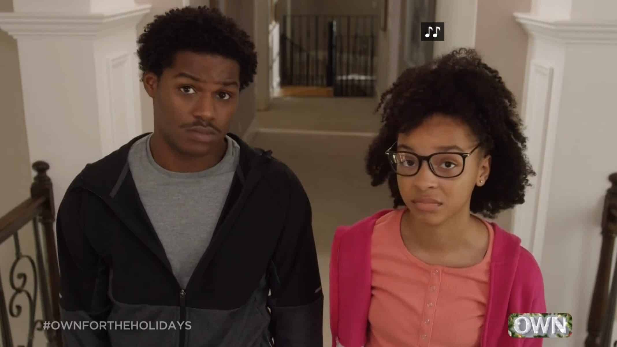 DJ (Khamary Grant) and Lindsay (Lindsey Amani Blackwell) after their dad calls them to attention