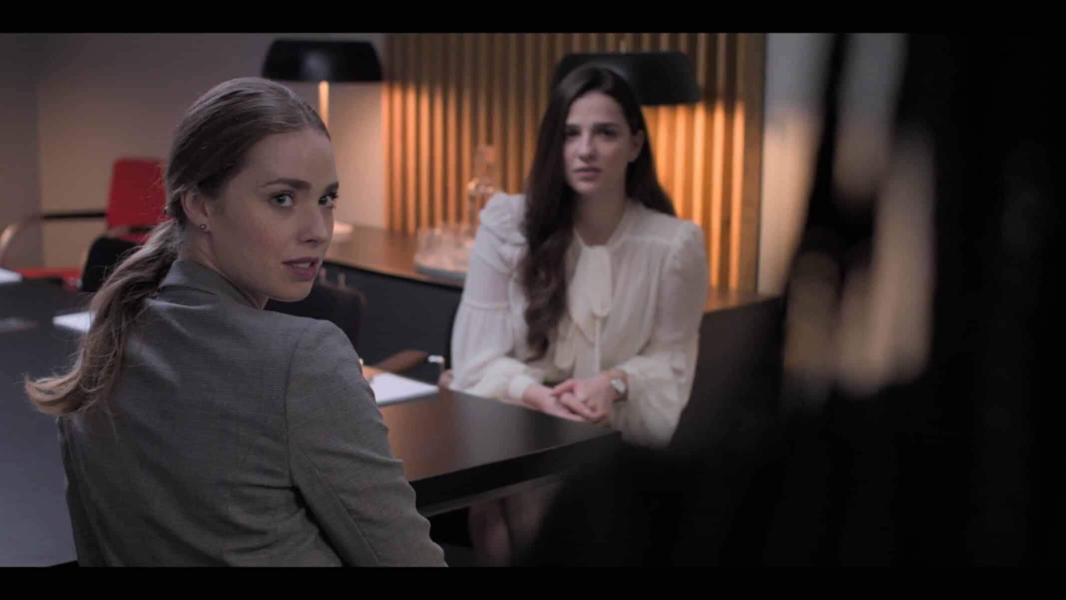 Daria and Yasmin in a meeting