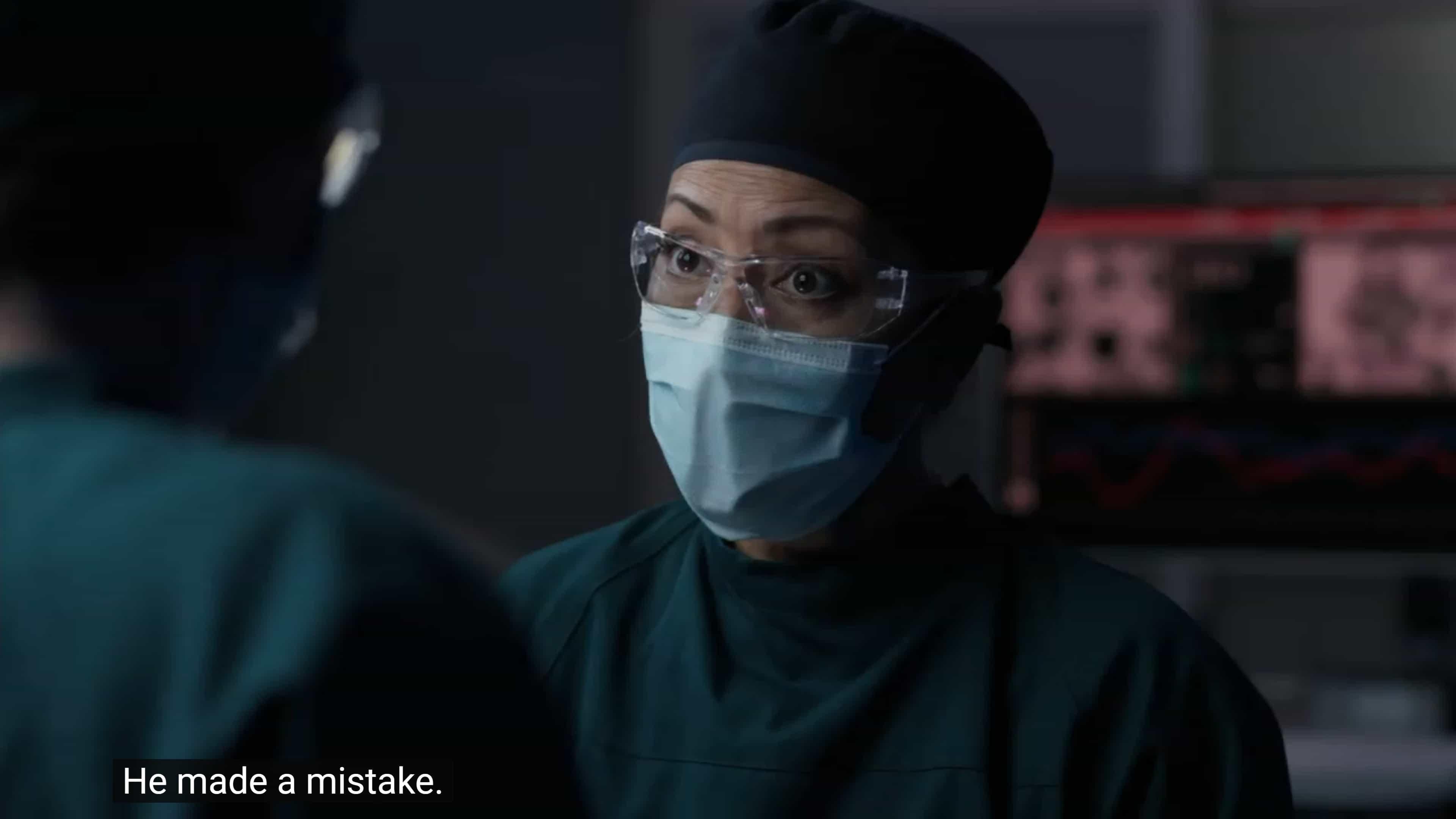 Dr. Lim reacting to Shaun not taking responsibility