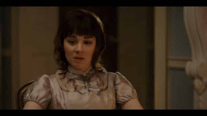 Eloise (Claudia Jessie) processing what her sister is going through