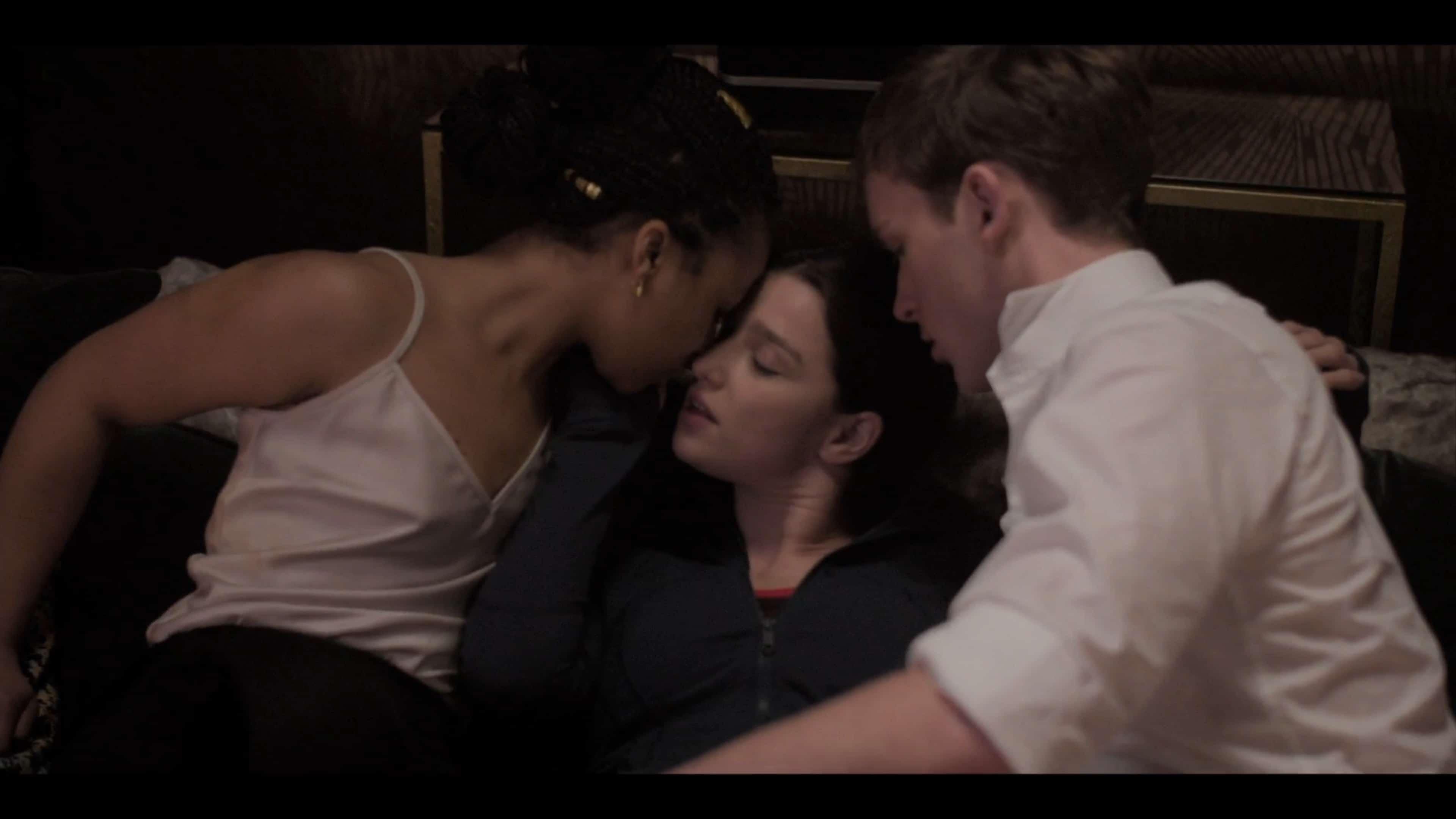 Harper, Yasmin, and Robert beginning a threesome