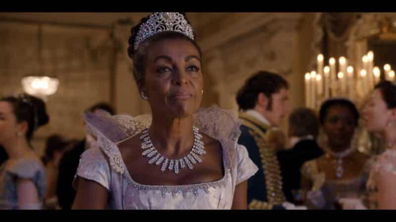 Lady Danbury (Adjoa Andoh) at a ball she is hosting