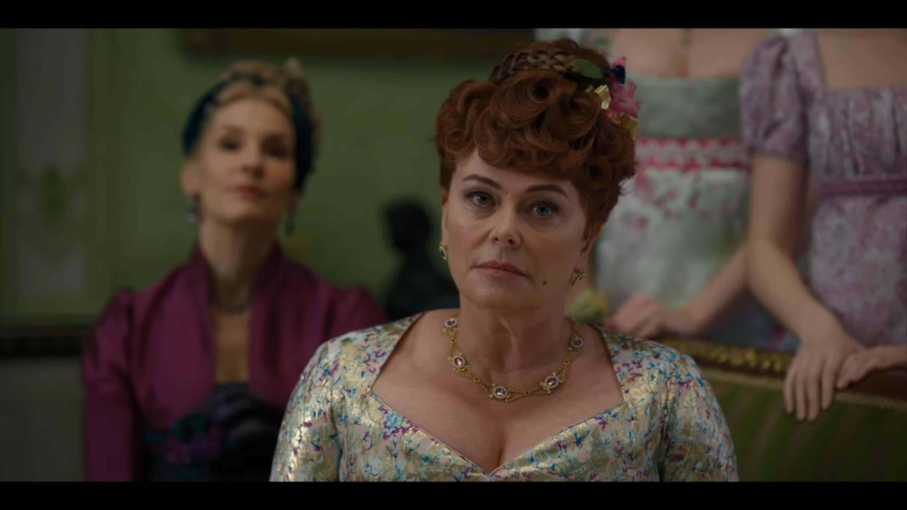 Lady Portia (Polly Walker) at a ball