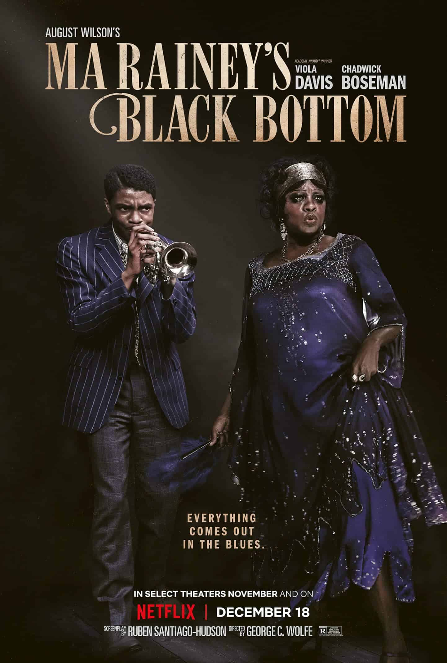 Levee (Chadwick Boseman) and Ma Rainey (Viola Davis) in Ma Rainey's Black Bottom