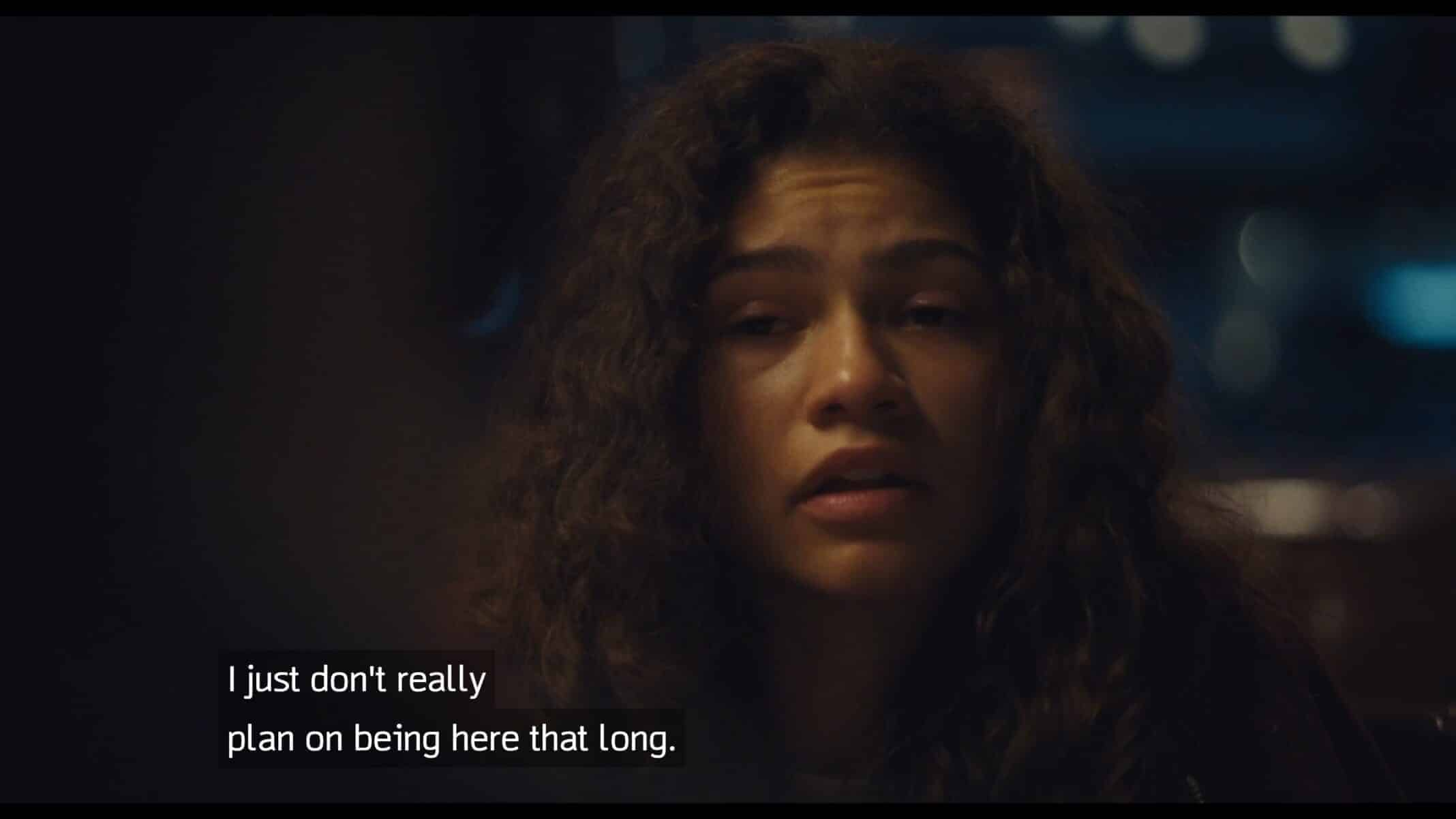 Rue talking about her suicidal thoughts.