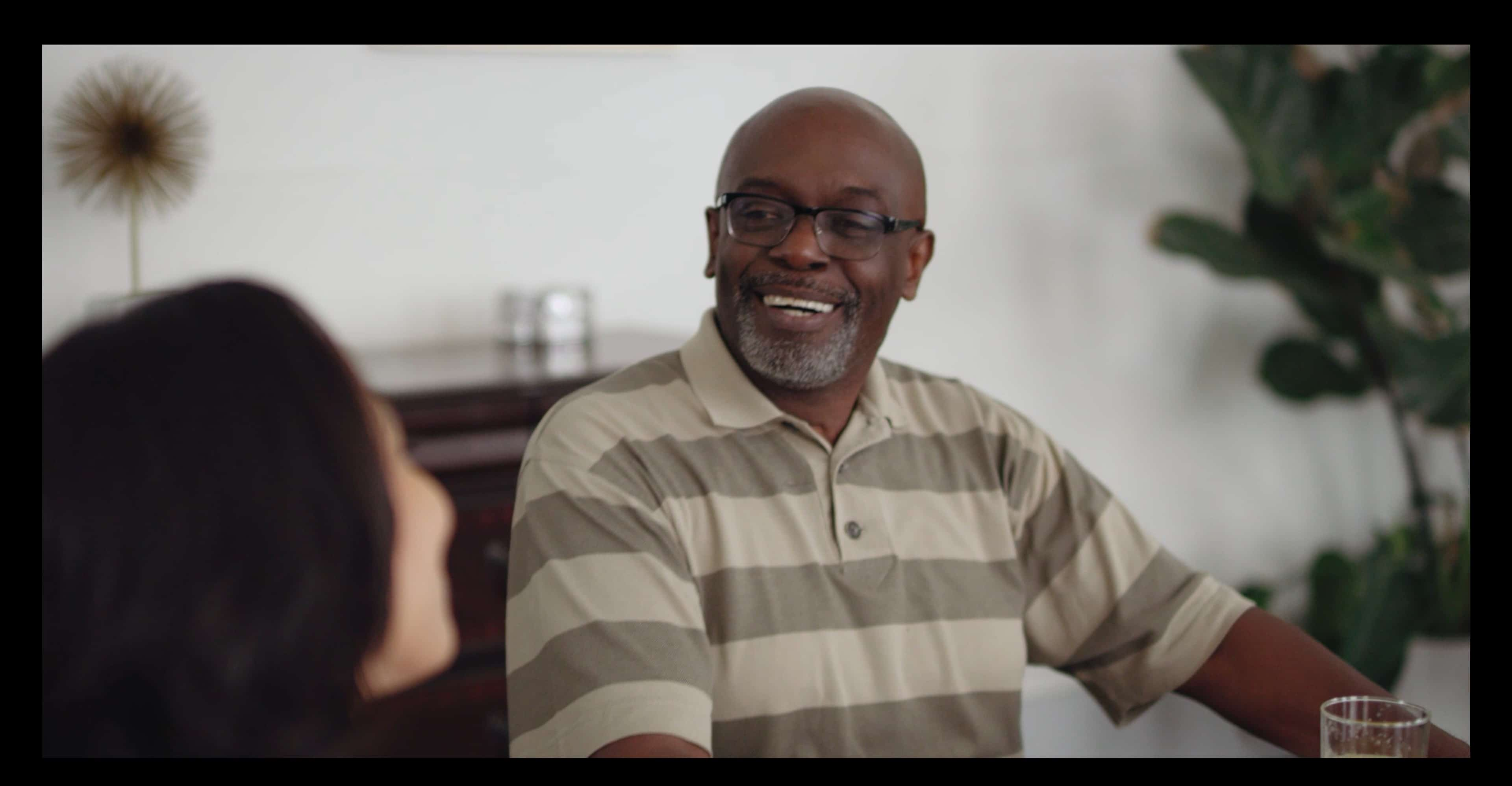 Sam (Carl Gilliard) talking to his in-laws