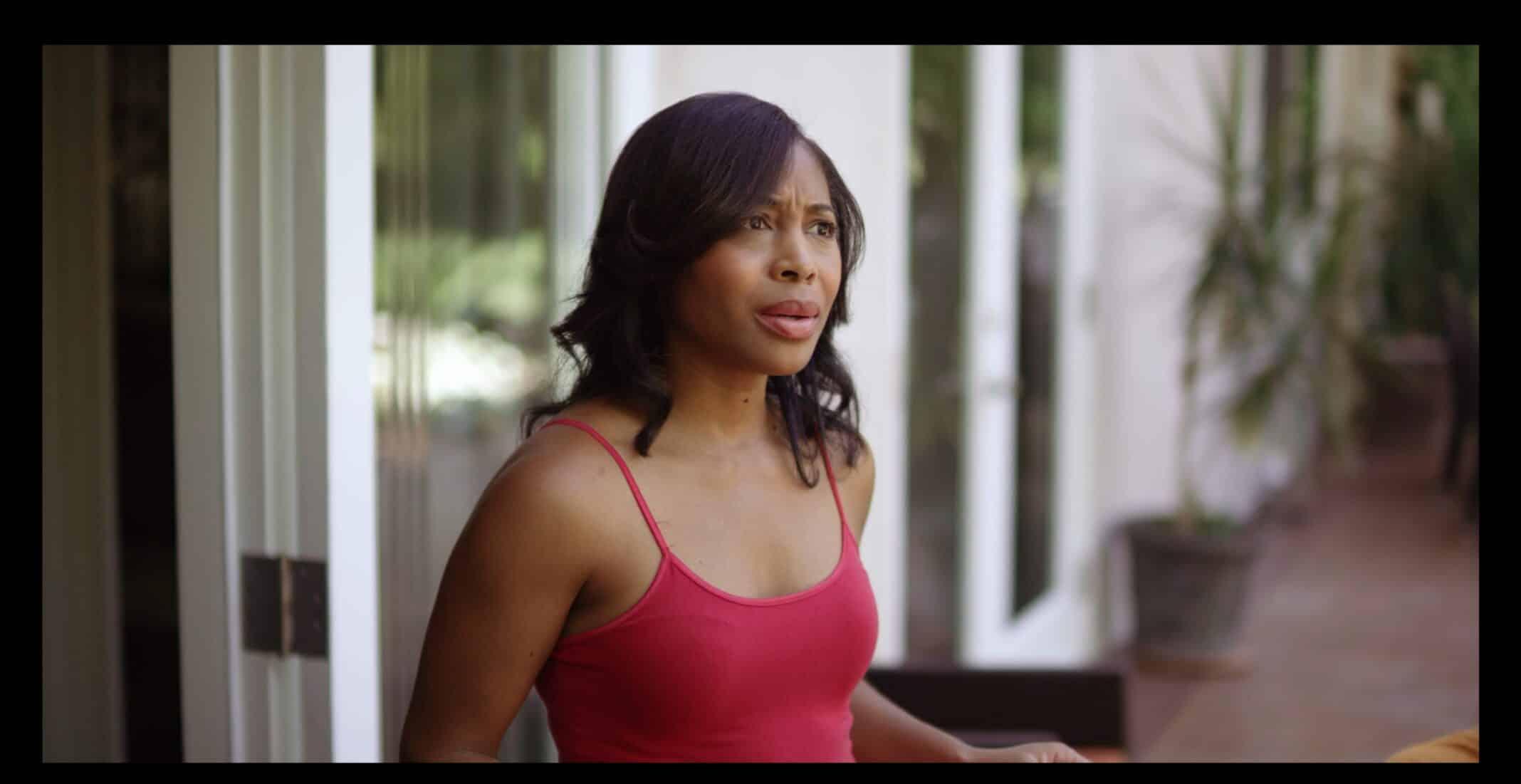 Tonya (LaKeysha Edwards) asking her husband to apologize to Jason