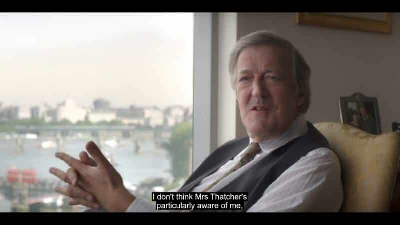 Arthur (Stephen Fry) talking about Margaret Thatcher