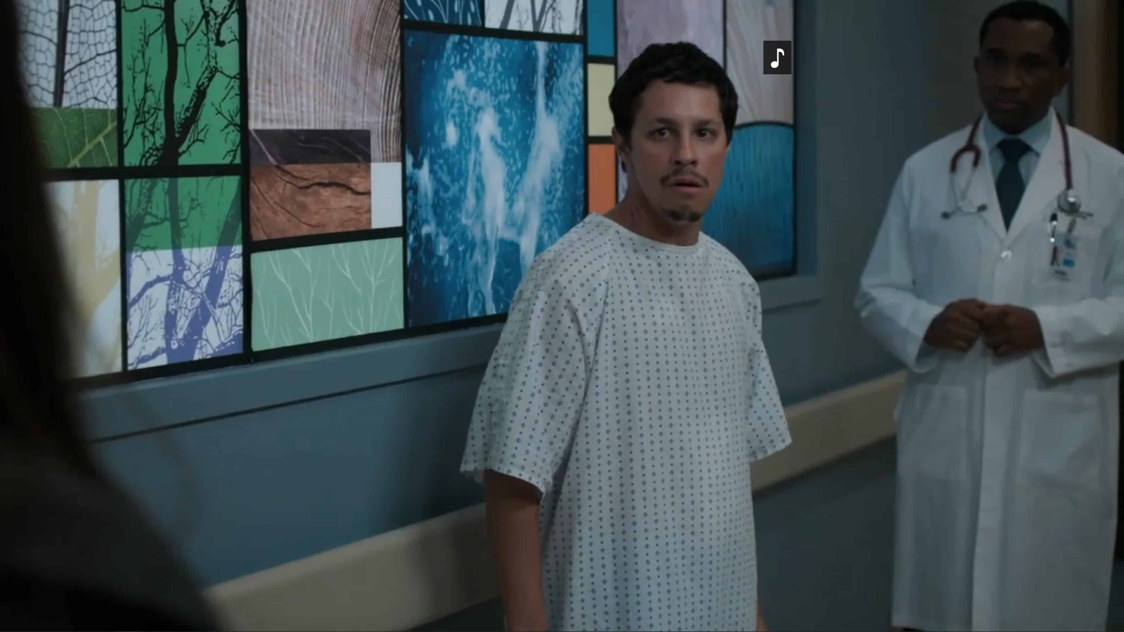 Ben (David Del Rio) after waking up from being knocked out