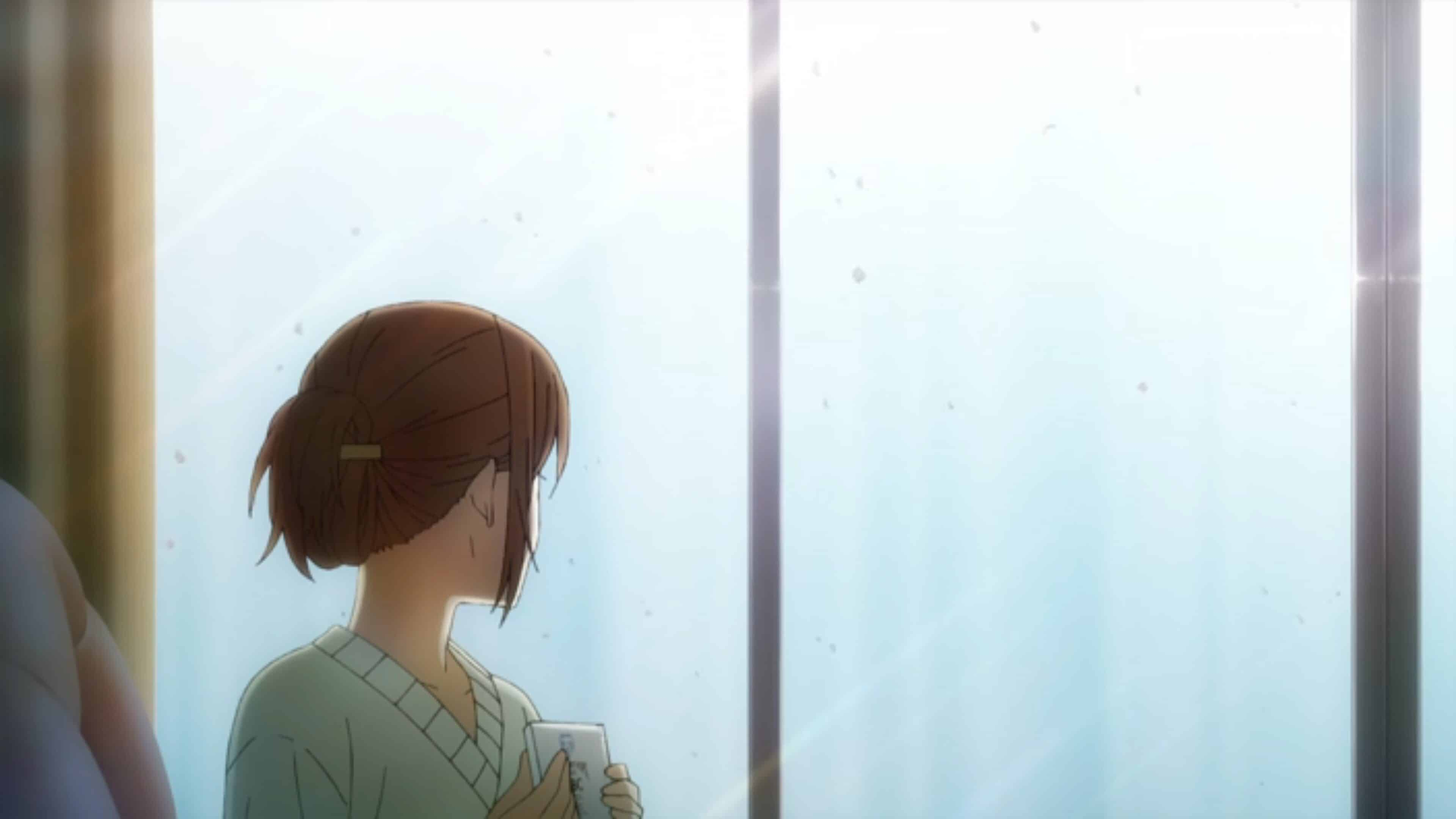 Hori looking out the window