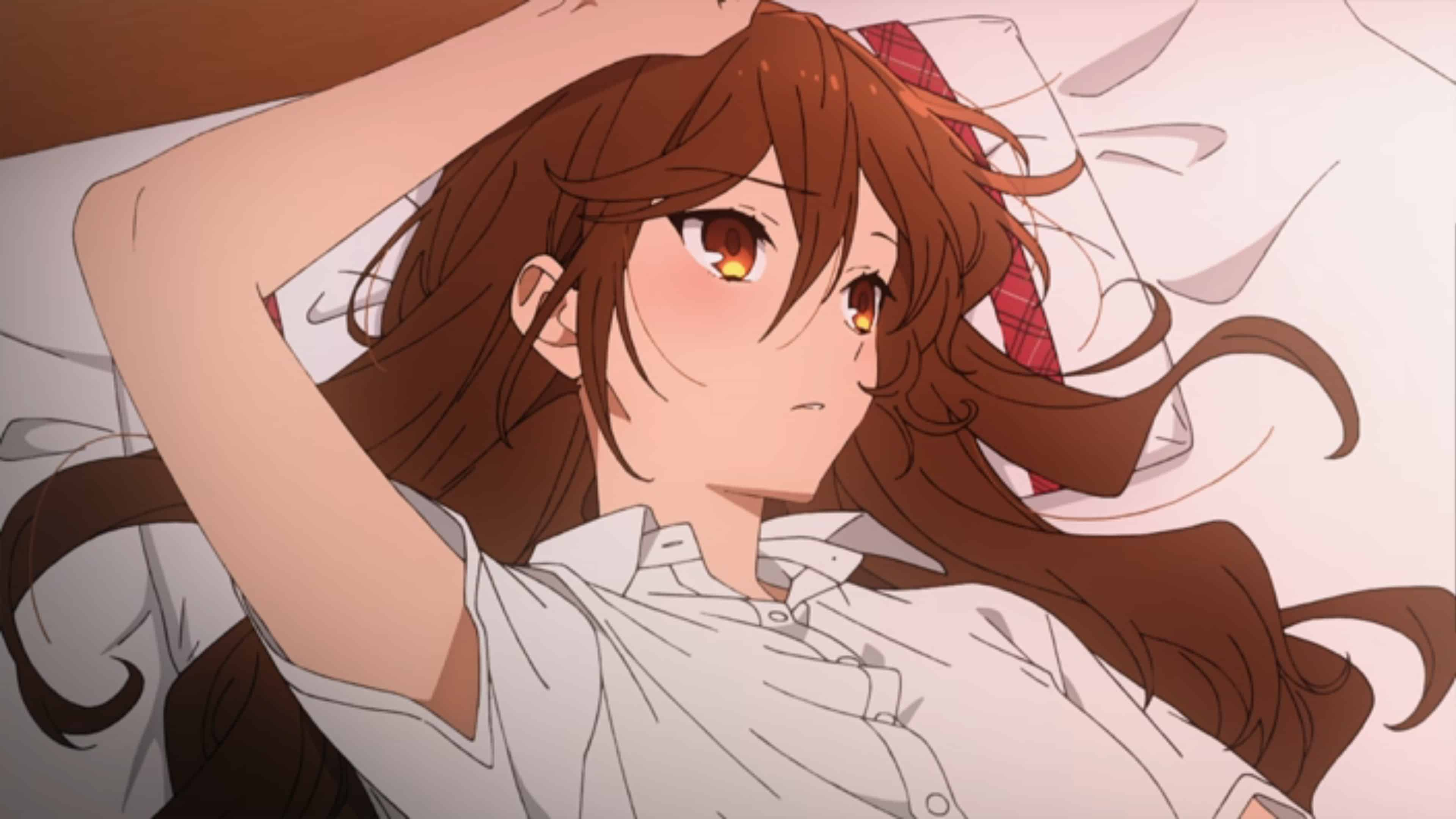 Hori laying down in bed