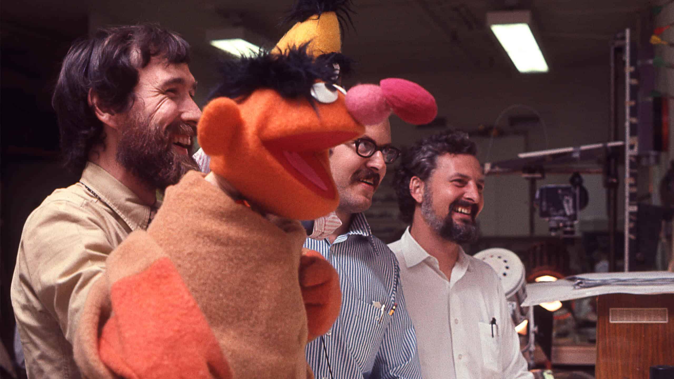 Jim Henson and Frank Oz portraying Ernie and Burt