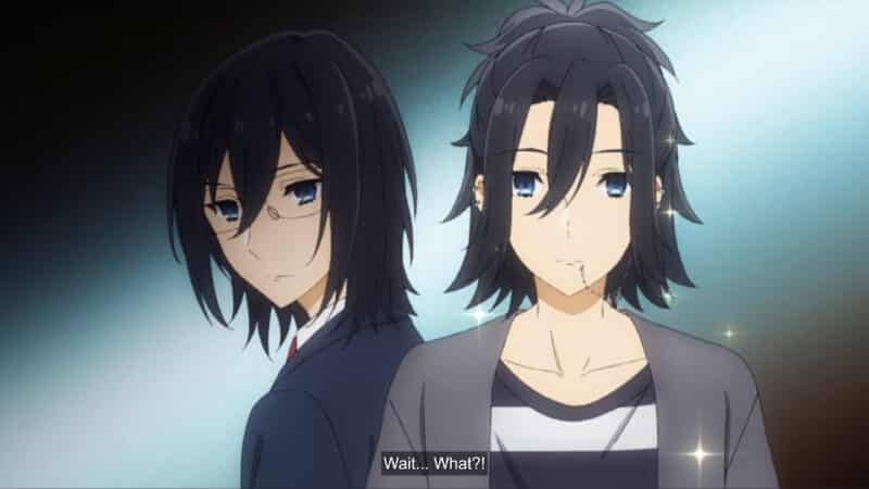 Miyamura (Koki Uchiyama) in both his school and day look