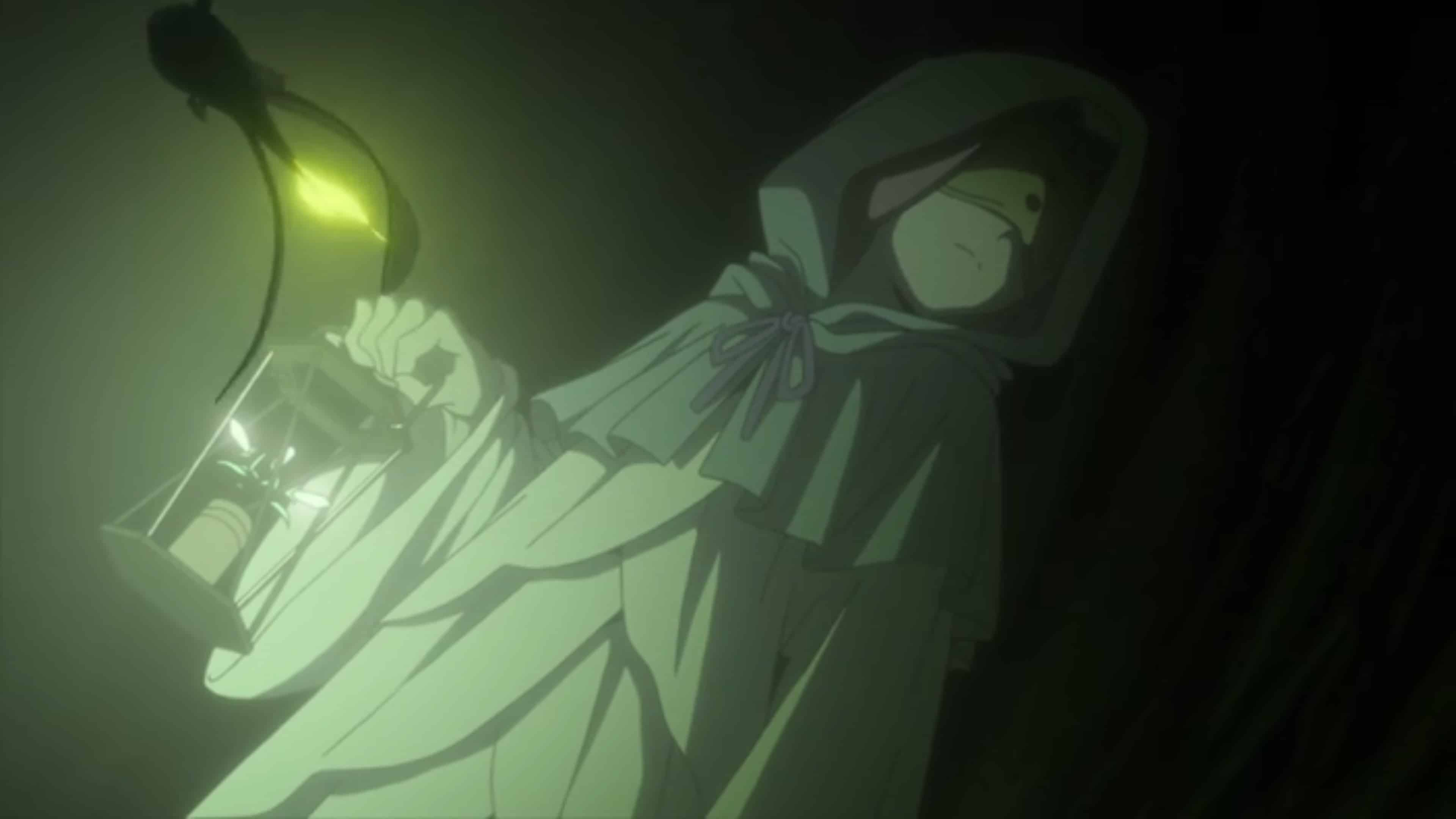 Mujika with a lantern