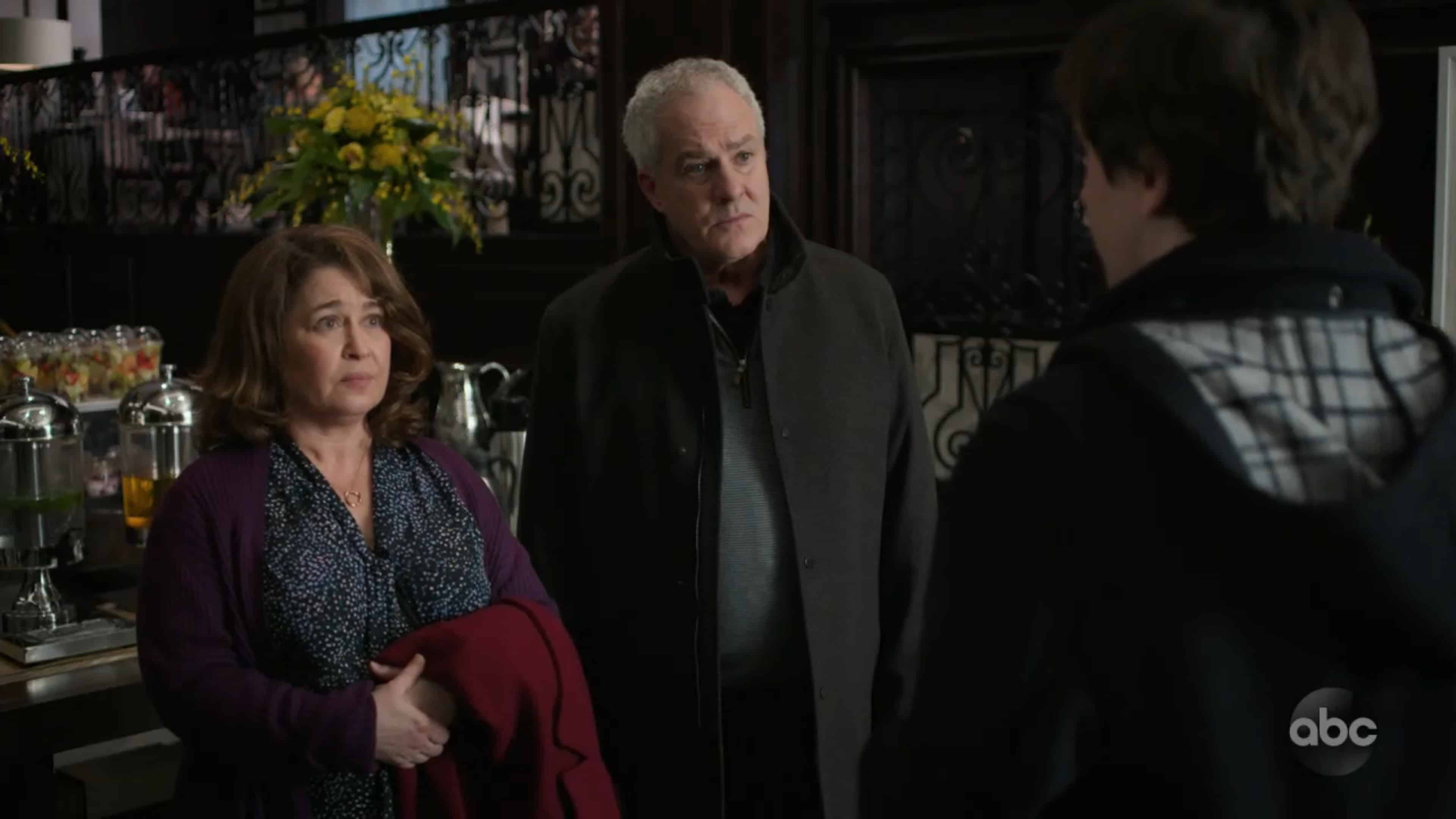 Pam (Julie Warner) and Mike (Barclay Hope), Lea's parents