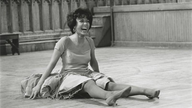 Rita Moreno on the set of West Side Story