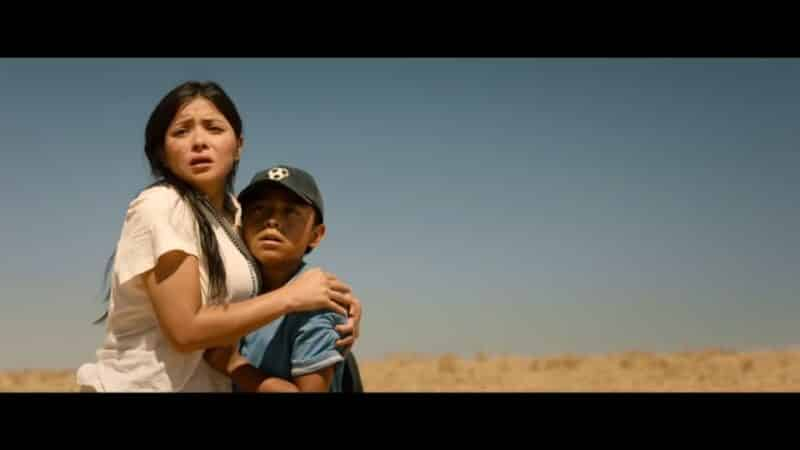 Rosa (Teresa Ruiz) and Miguel (Jacob Perez) after crossing the border