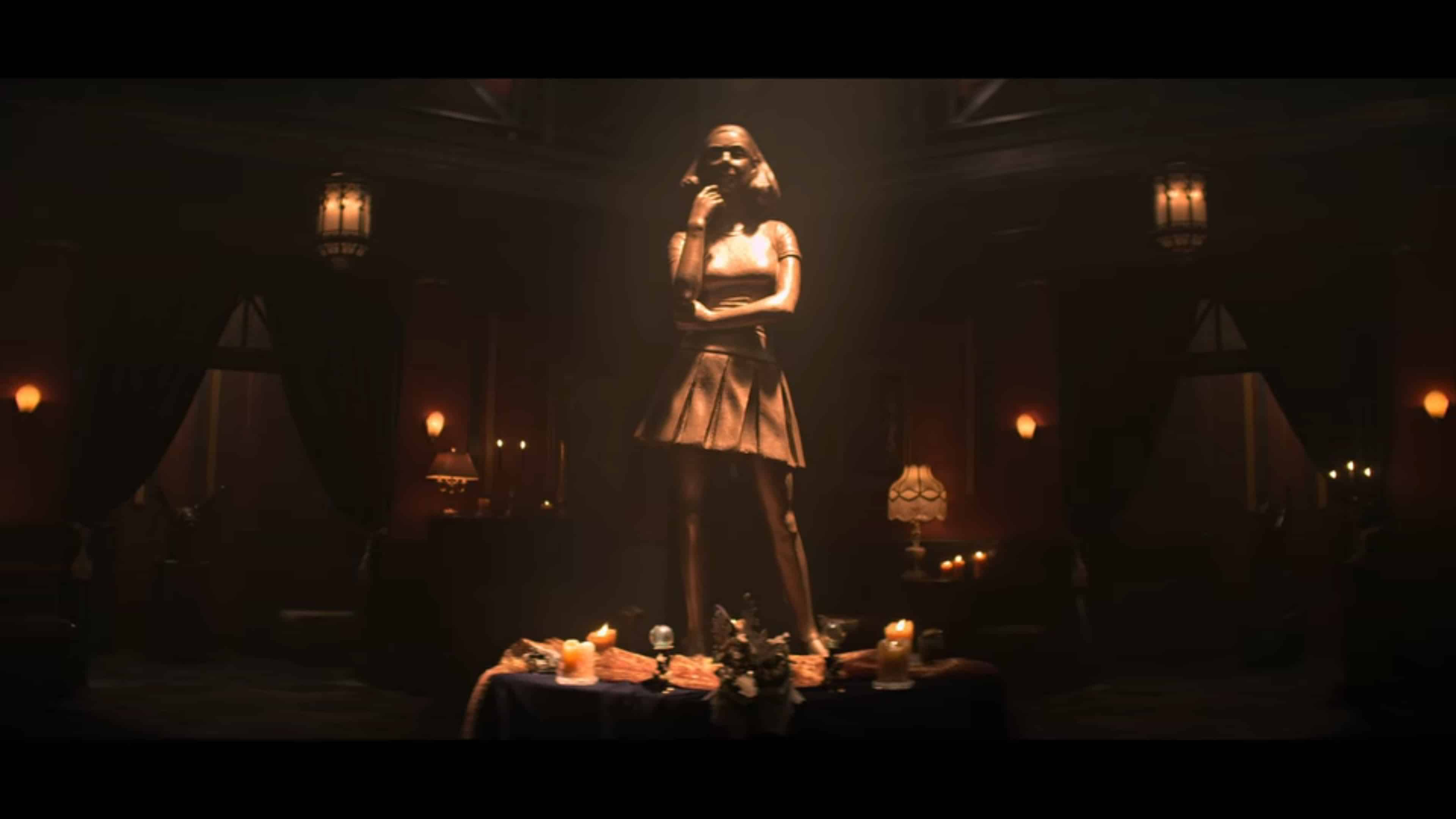 Sabrina Statue in the coven