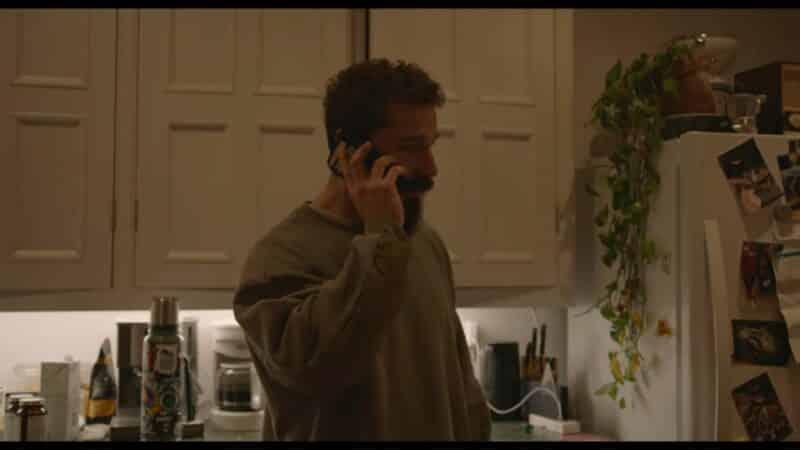 Sean (Shia LaBeouf) on the phone
