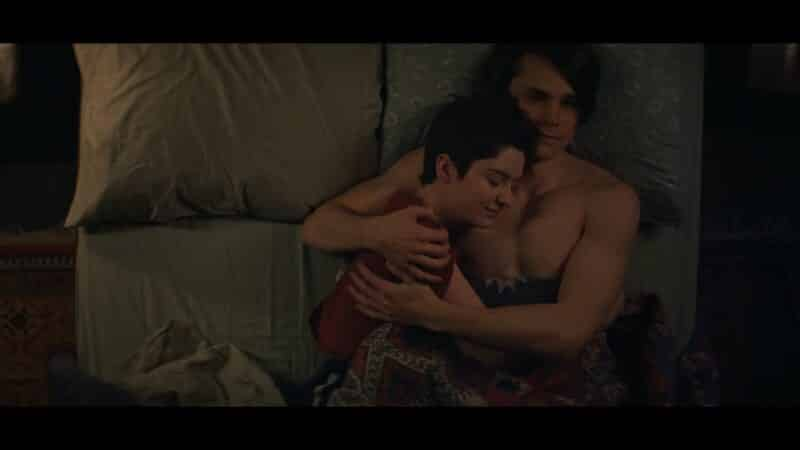 Theo and Robin cuddling