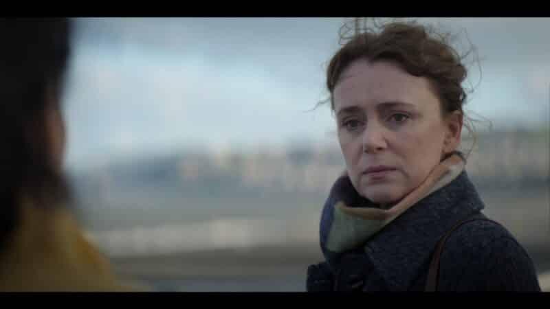 Valerie (Keeley Hawes) revealing Ritchie died