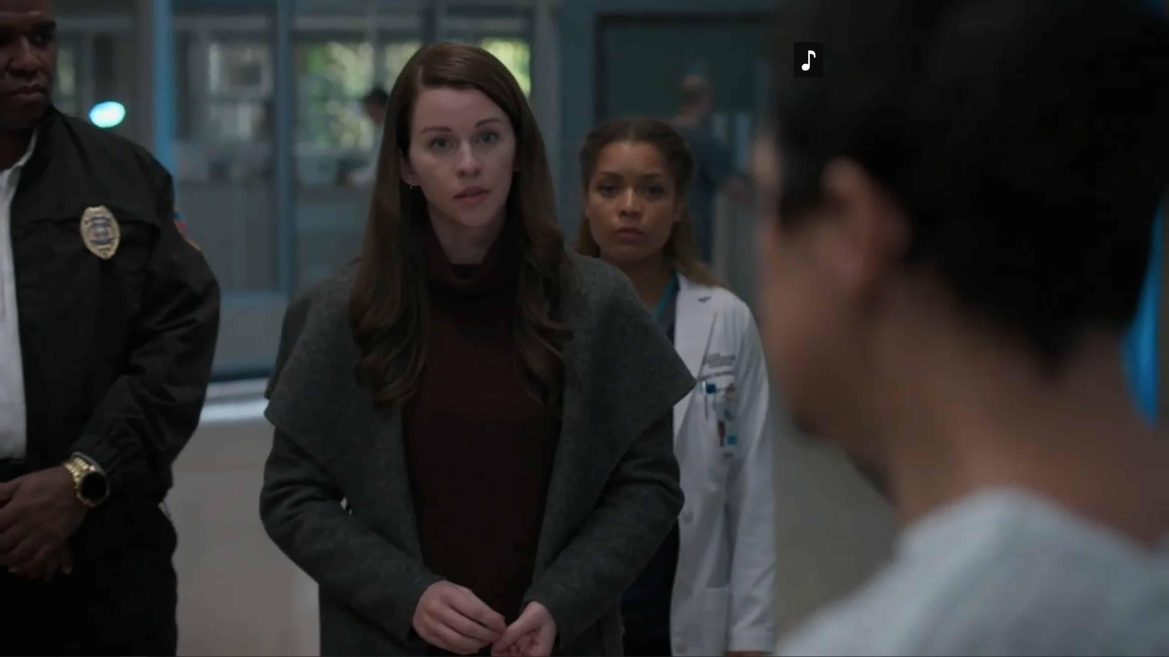 Zoe (Kim Shaw) trying to calm Ben down