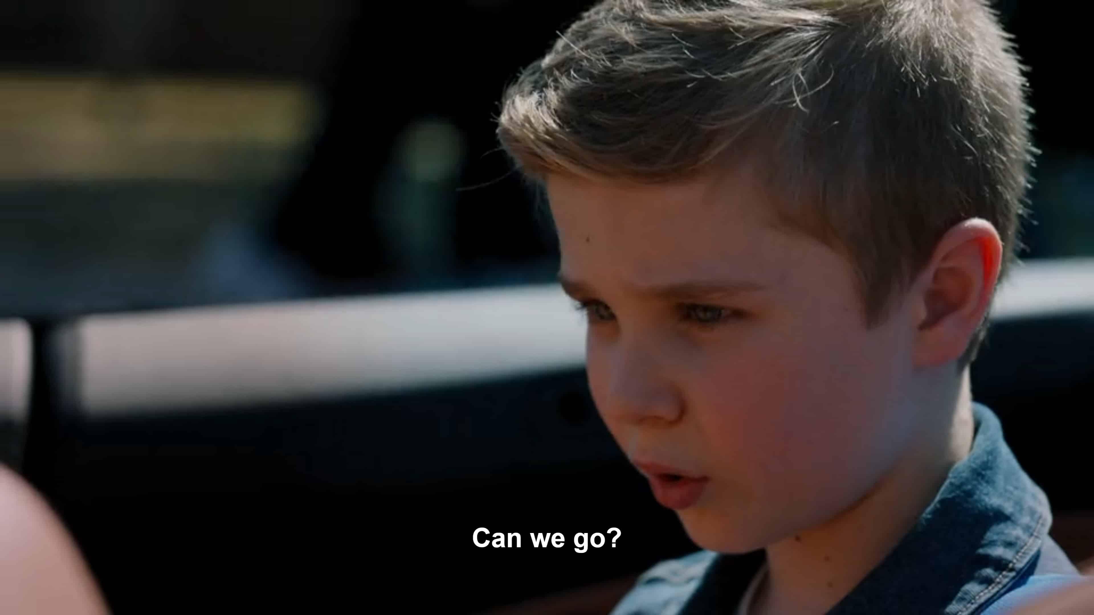 Austin (Diesel La Torraca) getting picked up from school