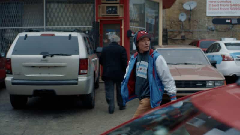 BJ (Johnnyboy Tellem) hustling on the streets of Chicago