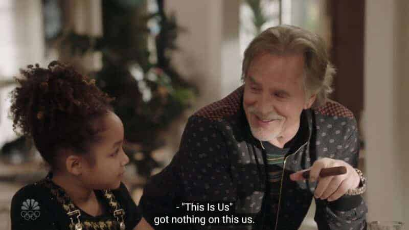 """Birdie (Dannah Lane) and Rick (Don Johnson), as Rick says """"This Is Us"""" says it has nothing on them"""
